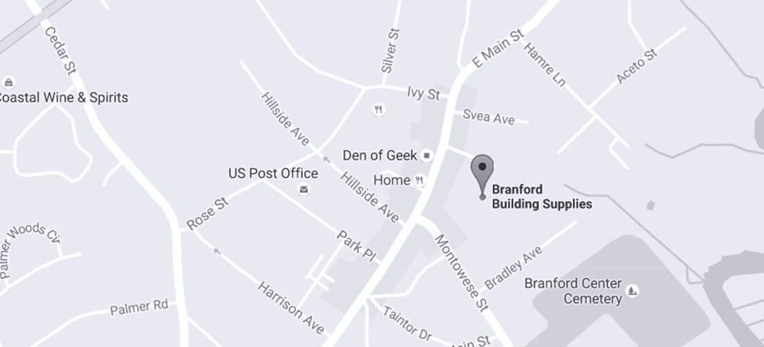 Contact Us Map | Branford Building Supplies